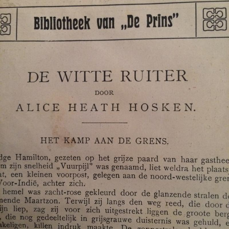 1920 | De Witte Ruiter - Bibliotheek van de Prins (ongedateerd - medio 1920-30)