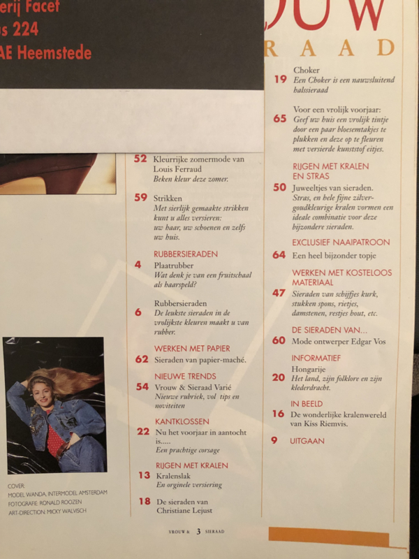 Vrouw & Sieraad   1991 nr. 1