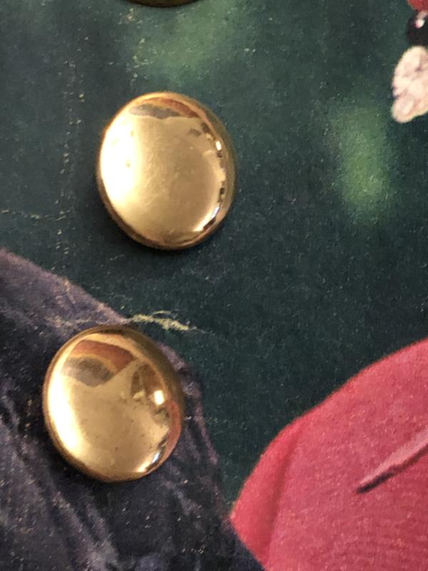 Knopen | Goud 10 mm - metaal met oogje  | jaren '50
