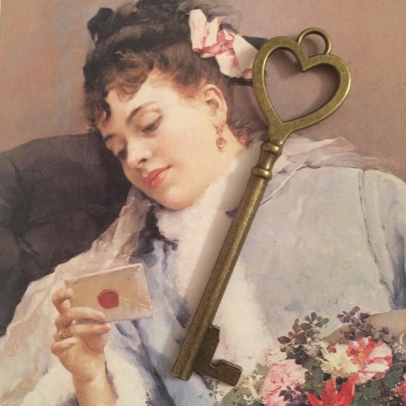 """Hanger """"Sweet Heart"""" - bronskleurig   8 cm."""