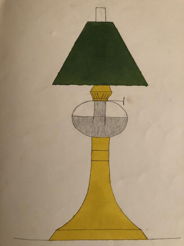 1905   Antiek school tekenboek / schetsboek vol met tekeningen Firma A.Huisman Meppel FAHM