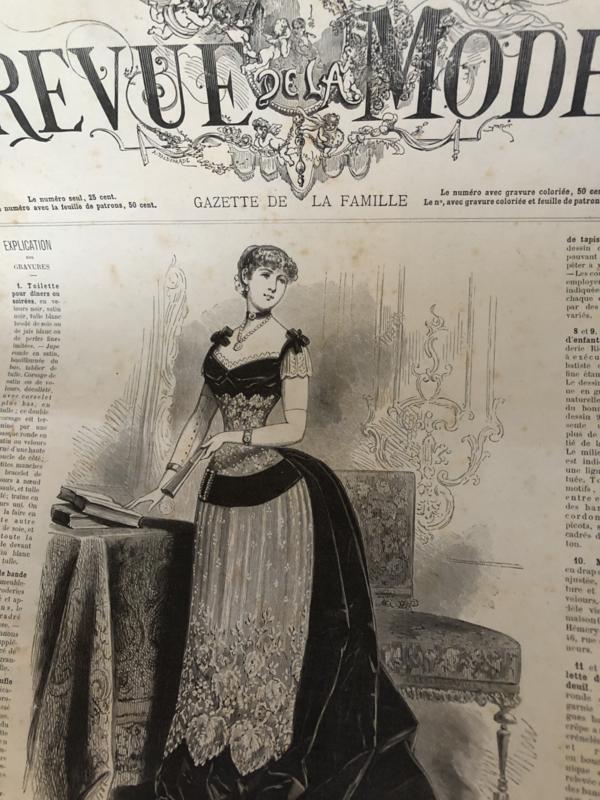 1881 | Revue de la Mode - Gazette de la Famille 13e - Annee no 627 (avec patrons) Dimanche 6 Janvier 1881