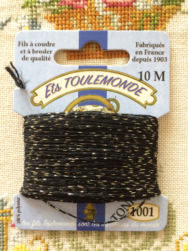 Tonkin borduurgaren | stopgaren | Zwart & Goud