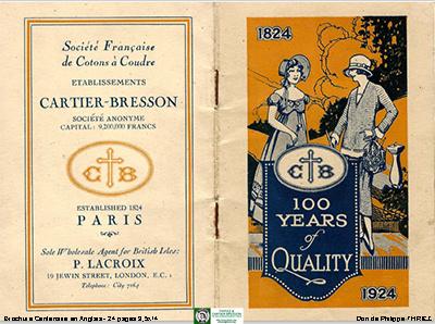 Cartier-Bresson   CB - geschiedenis