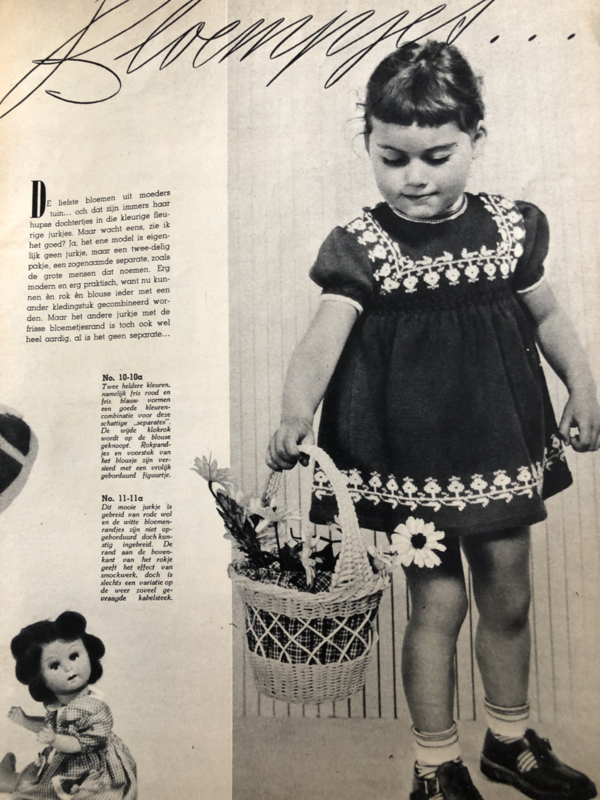 1950 | Breien | Tijdschrift | Margriet Kleuter Breishow De geïllustreerde pers | jaren '50
