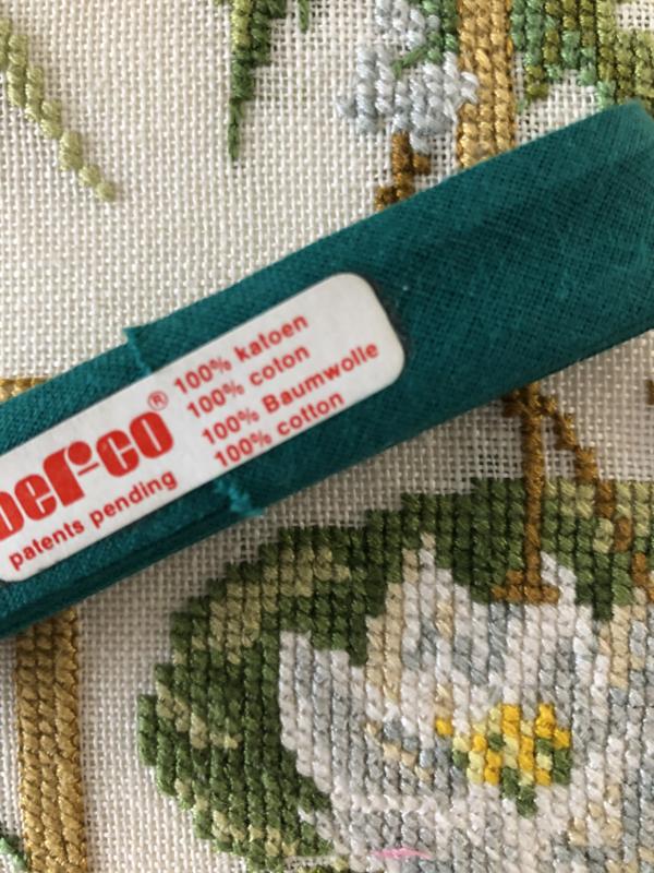 Band | Groen | Biaisband | Donkergroen | 2 cm | 100% katoen | Derco - kleurecht : patents pending