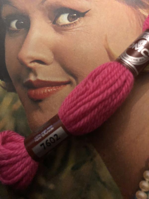 Borduurwol   7602 - 7603 -7605 -7606   Colbert DMC Tapestry wool - Rose en Rood
