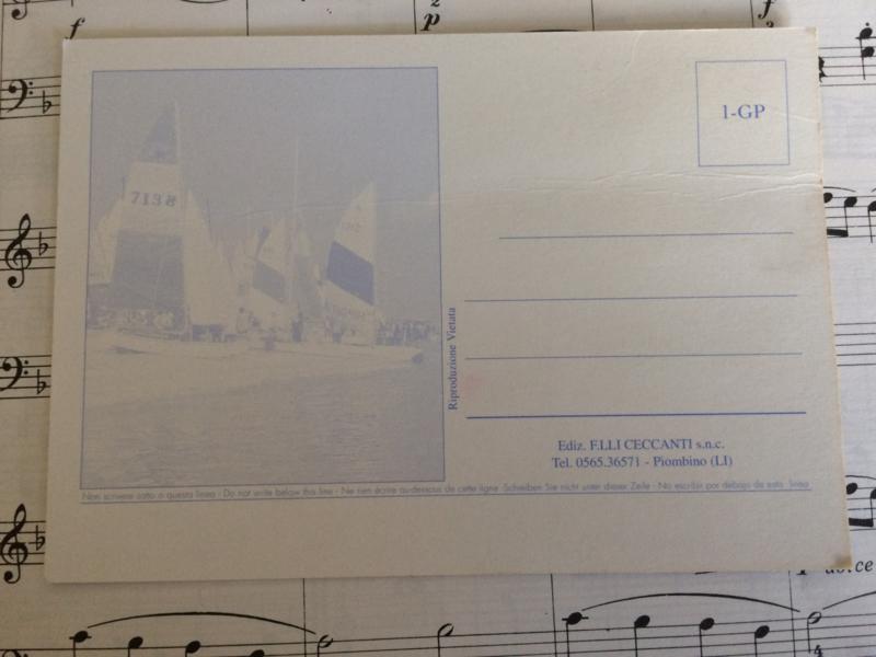 Italië | Briefkaart met vrolijke gans met gele gimpen |  Piombino