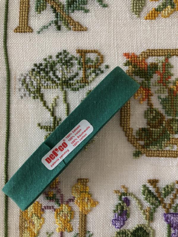 Band | Groen | Biaisband | 2 cm | 100% katoen | Derco - kleurecht : patents pending