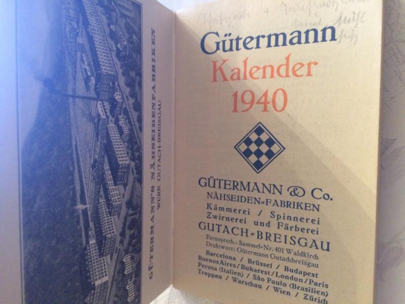 Gütermann  | Agenda 1940