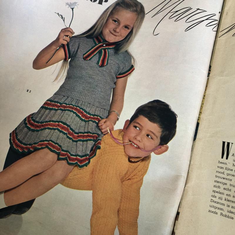 1950 | Breien | Tijdschrift | Margriet Kinder Breishow De geïllustreerde pers | jaren '50