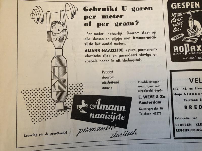 1953 | Amann naaizijde - advertentie