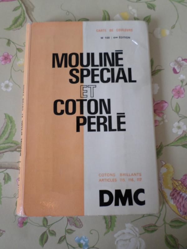 DMC | Vintage borduurgaren kleurstalen vintage DMC Mouline Special et Coton Perle | Jaren '50