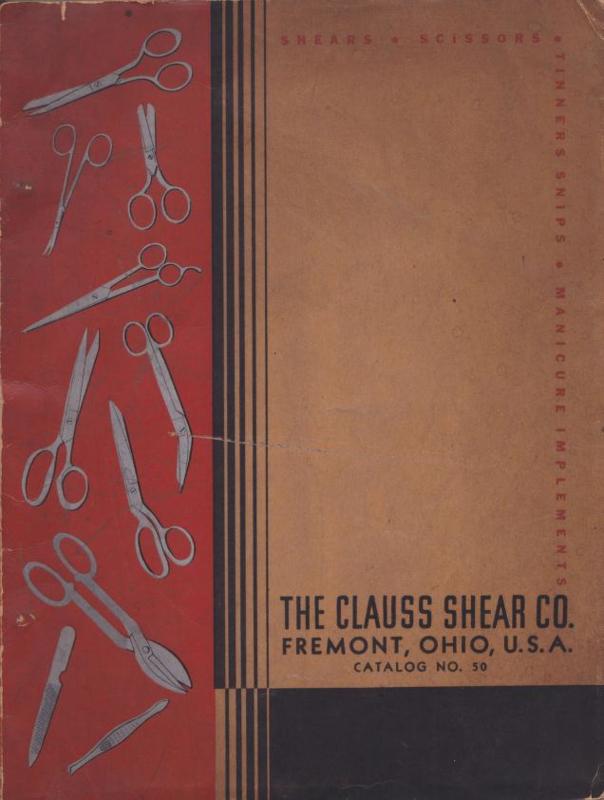 1934 | The Clauss Shear Company : Catalog No. 50
