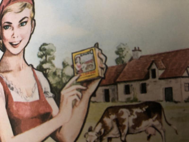 1950 | LA BELLE ARTÉSIENNE - PONT LÉVEQUE - PUISIEUX - Etiket met reclameboodschap