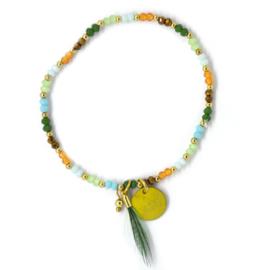 Mini Crystal Beads - Green, Blue & Brown