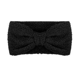 Winter haarband fluffy teddy zwart