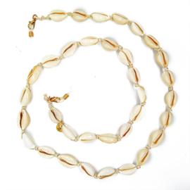 Zonnebrilkoordje/ Koordje voor mondkapje met touw en schelpjes