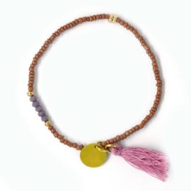 Armparty - Bruin, Purple, Gold