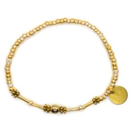 Crystal & Mini Beads - Gold