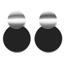 Round & Round Black - Silver