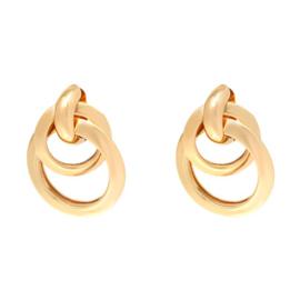 Oorhangers met 2 ringen - Goud