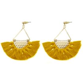 Tassel Earrings Gold - Yellow