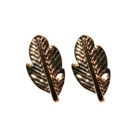 Feather Stud - Gold