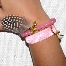 Feather Bracelet - Pink