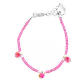 Anklet Strap Girls - Pink & Flowers