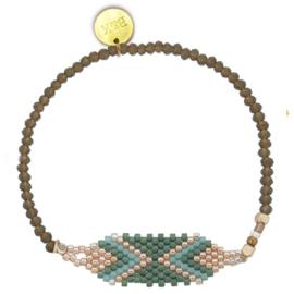 Crystal & Mini Beads - Green