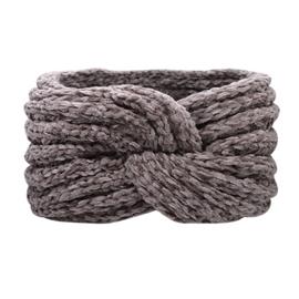 Winter haarband fluffy 2.0 lila/ grijs