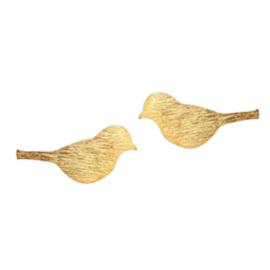 Bird Silhouette Stud - Gold