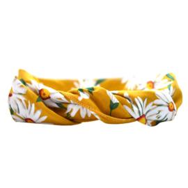 Headband Bandeau - Yellow & Flowers