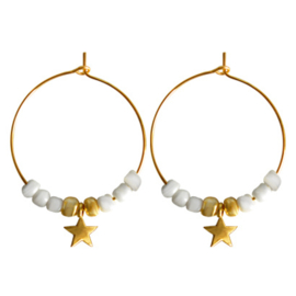 Hoops Beads Star - Gold