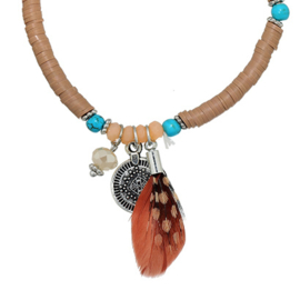 Feather Bracelet - Brown