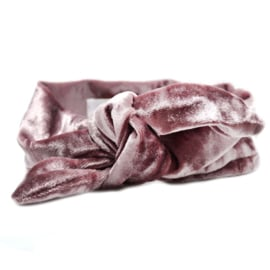 Bandeau Headband Velvet Girls - Pink