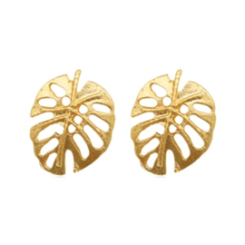 Leaves Stud - Gold