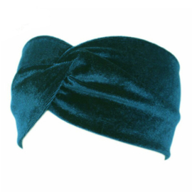 Velvet Headband - Turquoise