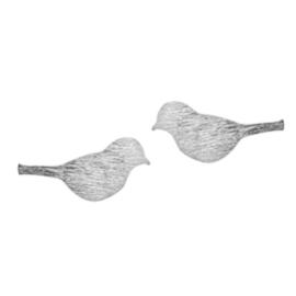 Bird Silhouette Stud - Silver