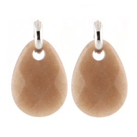 Stone Earring - Brown