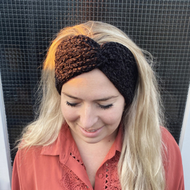 Winter haarband fluffy 2.0 zwart