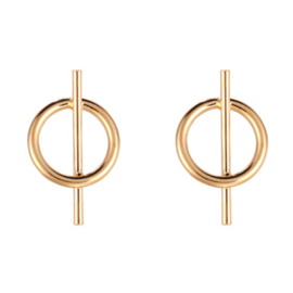 Earrings Mini Round - Gold