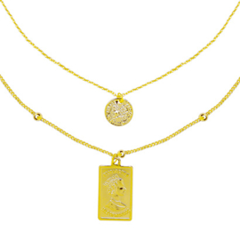 Elizabeth & Coin Necklace - Gold