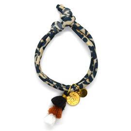 Leopard Elastic - Coin & Tassel