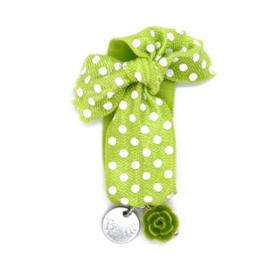 Armbandje Meisje Elastiek - Groen en Wit