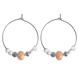 Hoops Beads -  Silver