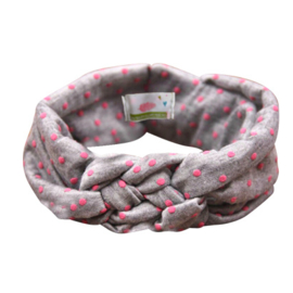 Headband Twine Girls - Grey & Pink