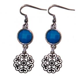 Silver Flower - Blue
