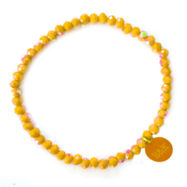 Crystal Beads Bracelet - Yellow